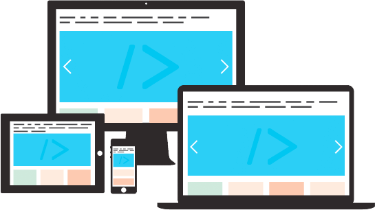 A website preview across multiple devices showing responsive design