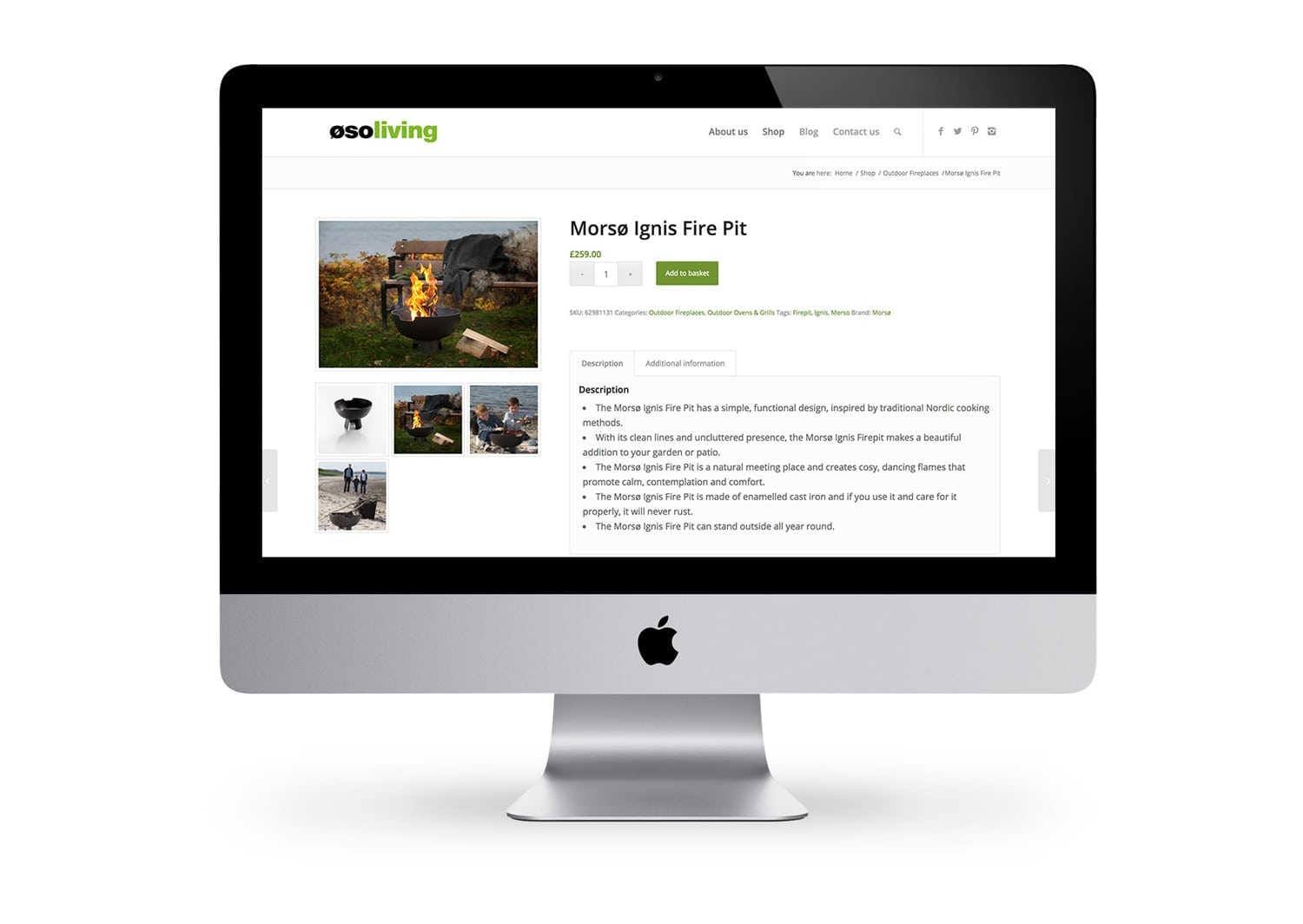 Example of an Ecommerce website built by Pallant Digital