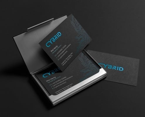 business cards made by graphic design