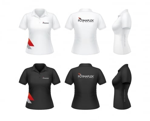 ladies polo shirt graphic design