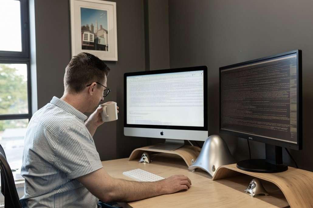Ben working in office